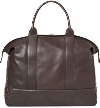 Bottega Veneta Espresso Leather Duffel Bag