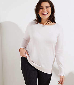 LOFT Plus Ruffle Cuff Raglan Sweater