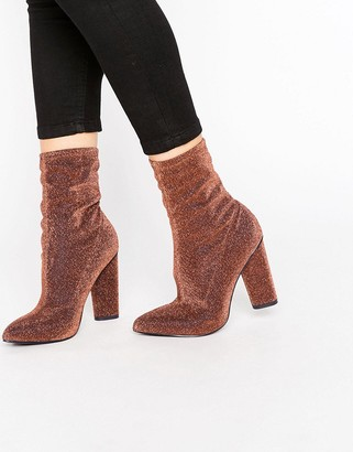 Missguided Glitter Heeled Sock Boots