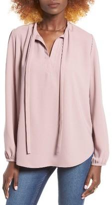Women's Leith Tie Neck Blouse $59 thestylecure.com