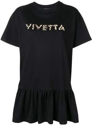 Vivetta oversized frill-hem T-shirt
