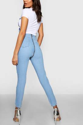 boohoo Zip Back Skinny Jeans