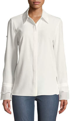 T Tahari Tiered-Cuff Long-Sleeve Shirt