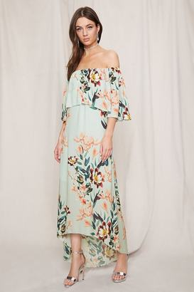 FOREVER 21+ Pretty By Rory Floral Midi Dress $78 thestylecure.com