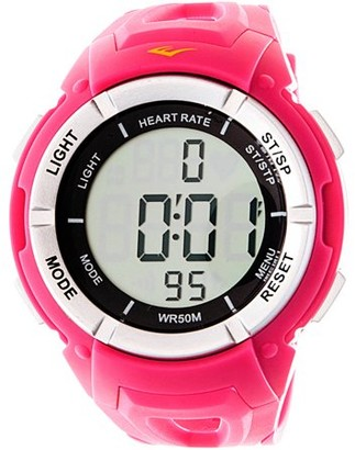 Everlast Women's HR3 Heart Rate Monitor Watch with Continuous Readout and Transmitter Belt, Pink Plastic Band