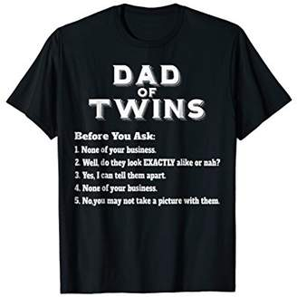 1e27263c9b Mens Funny Twins Dad T-shirt for Father's Day Common Questions