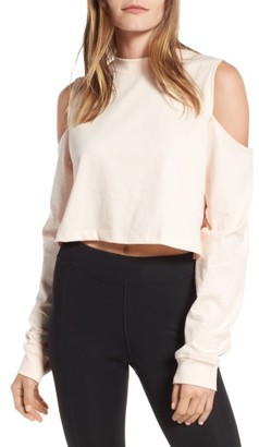 Women's Ivy Park Cold Shoulder Boyfriend Tee $35 thestylecure.com