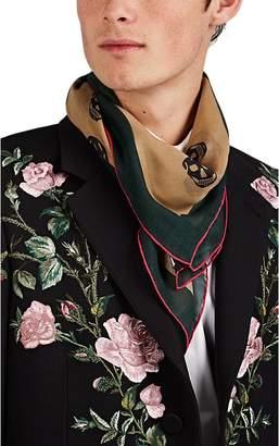 Alexander McQueen Men's Colorblocked Skull Modal-Silk Gauze Scarf