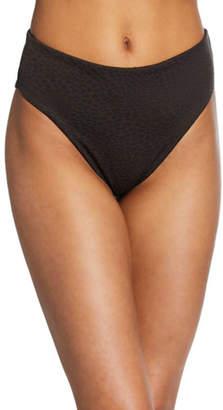 Onia Sabrina Textured High-Rise Bikini Bottom
