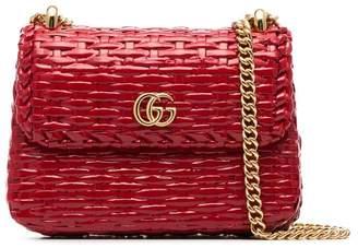 Gucci Cestino woven-wicker cross-body bag