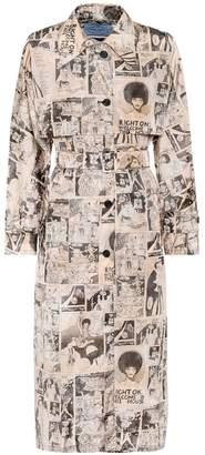 Prada Printed nylon trench coat