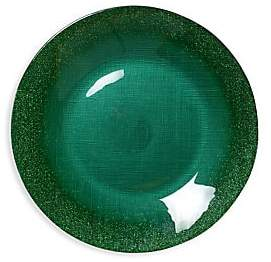 Vietri Glitter Glass Large Plate - Green