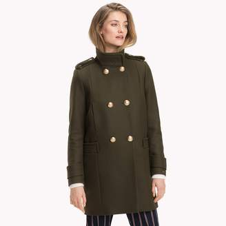 6c76698819ae2 Tommy Hilfiger Funnel Neck Double-Breasted Coat