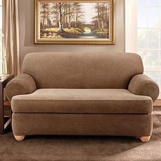 Sure Fit Stretch Stripe T-Cushion Sofa Slipcover
