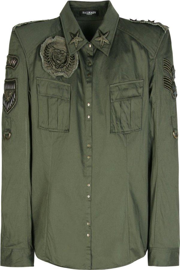 Balmain Embroidered Military Shirt