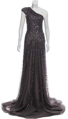 Mac Duggal One-Shoulder Embellished Gown w/ Tags