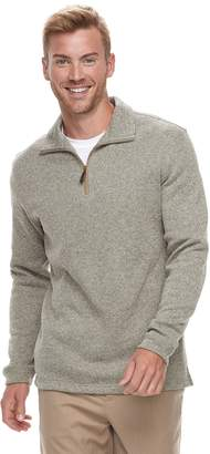 Haggar Men's Classic-Fit Sweater Fleece Quarter-Zip Pullover