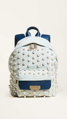 Zac Posen Eartha Iconic Small Denim Backpack