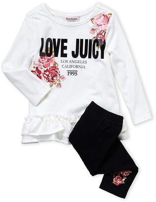 Juicy Couture Toddler Girls) Two-Piece Ruffled Top & Legging Set