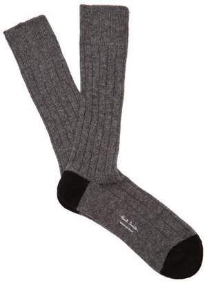 Paul Smith Ribbed Knit Socks - Mens - Grey