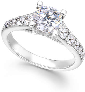 X3 Diamond Engagement Ring in 18k White Gold (2-1/4 ct. t.w.), Created for Macy's