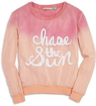 Vintage Havana Girls' Dip-Dyed Chase the Sun Sweatshirt