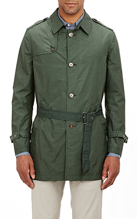 Barneys New York Barneys New York BARNEYS NEW YORK MEN'S BELTED RAIN COAT