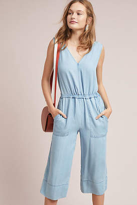 Splendid Cropped Chambray Jumpsuit