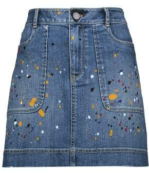 Alice + Olivia Printed Denim Mini Skirt