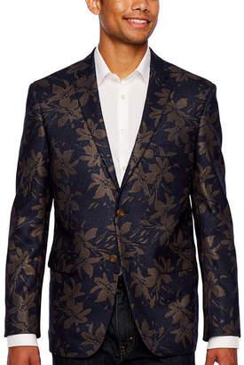 U.S. Polo Assn. Blue Gold Floral Slim Fit Sport Coat