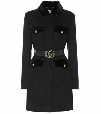 Gucci Embellished wool-blend coat