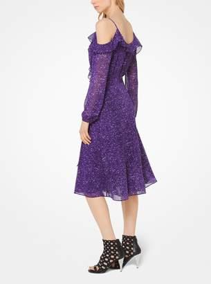 MICHAEL Michael Kors Tweed Georgette Peekaboo Wrap Dress