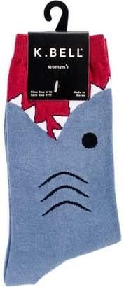 K. Bell Novelty Crew Socks - Shark