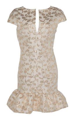 Pascal Millet Brocade Short Cocktail Dress