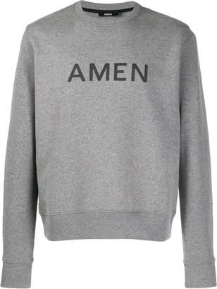 Amen printed logo sweatshirt