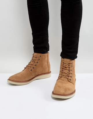 Toms Porter Water Resistent Suede Lace Up Boots
