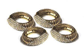 Classic Touch Set of 4 Jeweled Napkin Rings