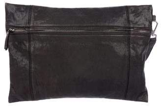 Brunello Cucinelli Leather Zip Clutch