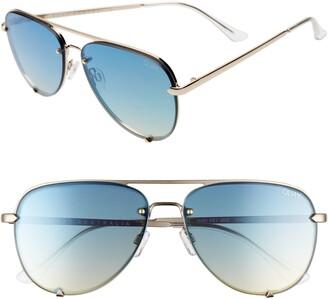 Quay x Desi Perkins High Key Mini 53mm Rimless Aviator Sunglasses