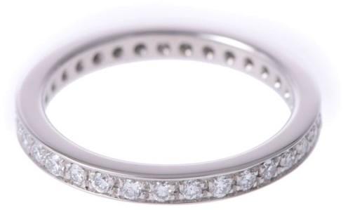 Bvlgari Bulgari 950 Platinum Eternity Diamond Ring Size 4.5