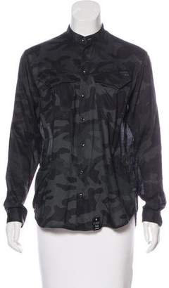 G Star Camo Print Button-Up Top