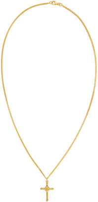 Emanuele Bicocchi SSENSE Exclusive Gold Mini Cross Necklace