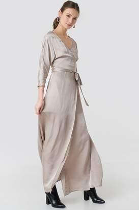 MANGO Floor Maxi Dress Beige