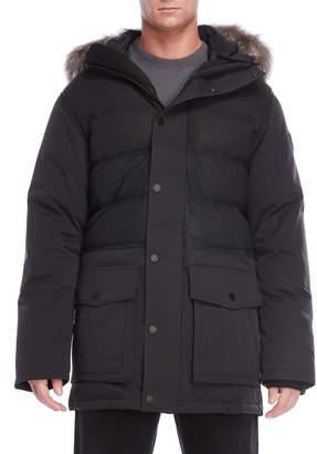 Pajar Canada Black Gabriel Real Fur Trim Hooded Parka