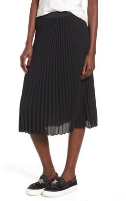 Women's Bp. Pleated Midi Skirt $55 thestylecure.com