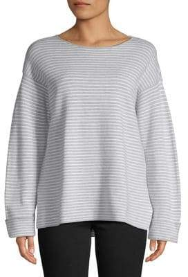 Eileen Fisher Striped Long-Sleeve Top