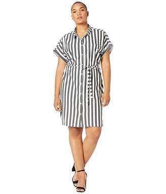 Junarose Plus Size Sana Short Sleeve Long Shirtdress