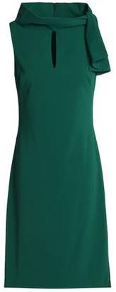 Badgley Mischka Knotted Crepe Dress