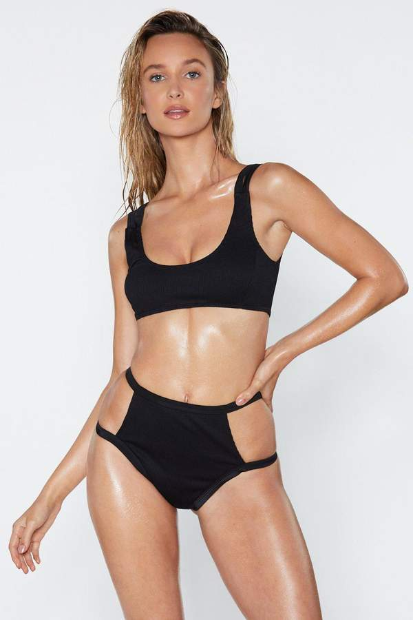 A Cut-Out Above the Rest Ribbed Bikini Set