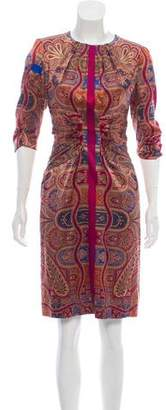 Etro Silk Paisley Print Dress